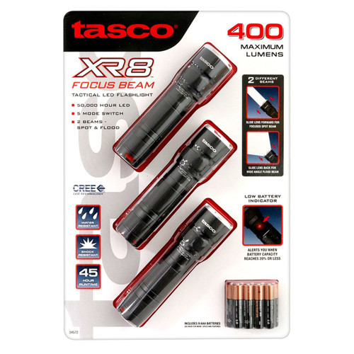 Tasco XR8 Focus Beam Flashlight (3-pk.) ( 274493)