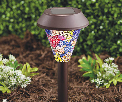 Bronze Mosaic Solar Pathway Light set of 3 (bl156853)