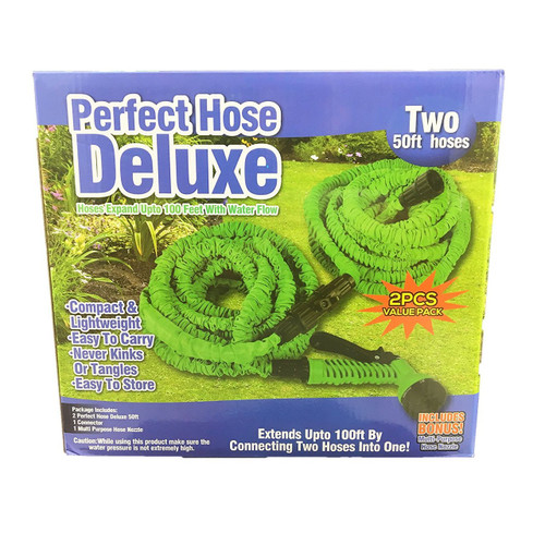 Perfect Hose Deluxe, Expandable Water Hose Two 50 ft. Hoses 2 Pack As seen on TV (814387020304)