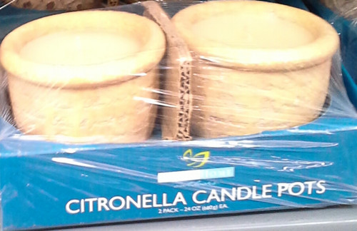 Citronella Candle 2pack pots (2bj) (