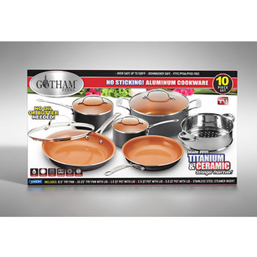 Gotham Steel 10-Pc. Aluminum Cookware Set (1129)