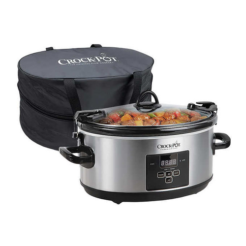 Crock-Pot 7-quart Cook & Carry Digital Countdown Slow Cooker, Stainless Steel ((SCCPVL659SPA)