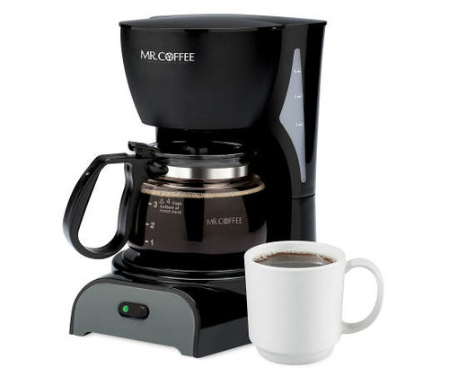 Mr. Coffee Black Simple Brew 4-Cup Switch Coffee Maker (8316)