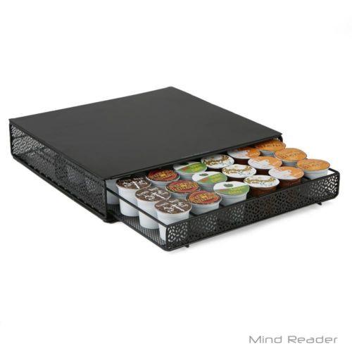 K-Cup Storage Drawer Organizer Coffee Pods Metal Mesh Space Saving (5786)