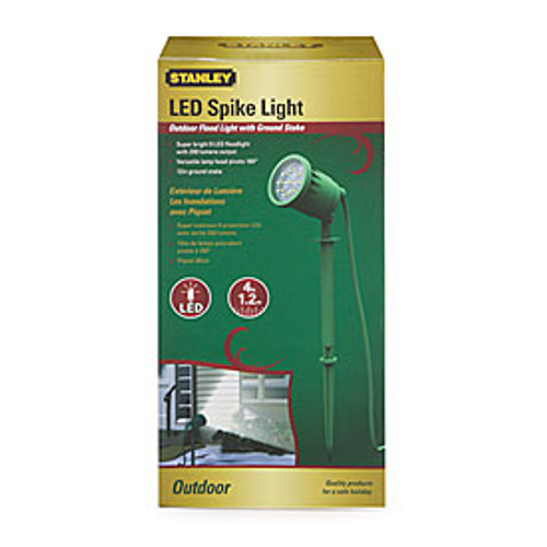 Stanley Plug in LED Spike Light W/color Lens Outdoor Flood Floodlight Landscape (686140568176)