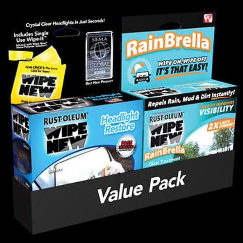 Rust-Oleum Wipe New RainBrella and Headlight Restore Combo Pack