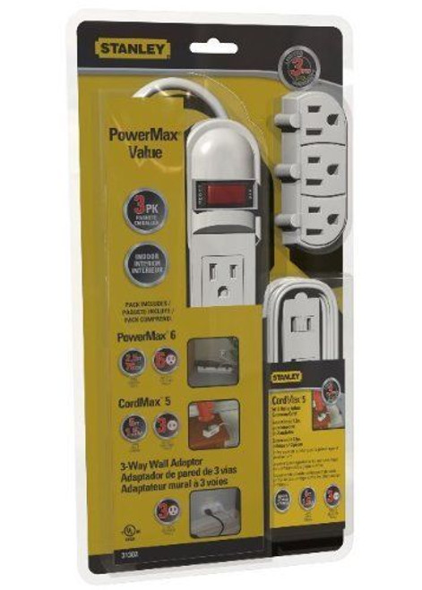 Stanley 31302 PowerMax Value Pack 3pc Multi-outlet Kit (31302)