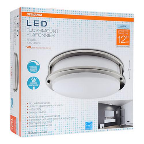 "Sylvania 12"" Round Flush Mount LED Ceiling Fixture (71406)"