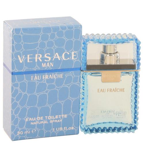 Versace Man Cologne 1 oz Eau Fraiche Eau De Toilette Spray (Blue) (440253)