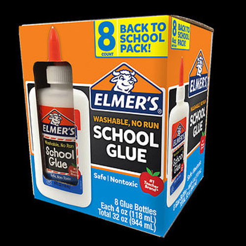 Elmer's School Glue, 8 pk./4 oz. ( 2019202 )