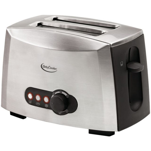 Betty Crocker 2-slice Stainless Steel  Toaster