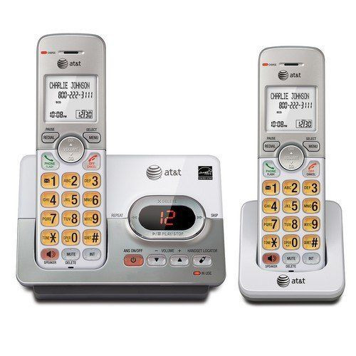 AT&T EL52253 Cordless Phone with 2 Handset, Answering System, Caller ID/C (EL52253)