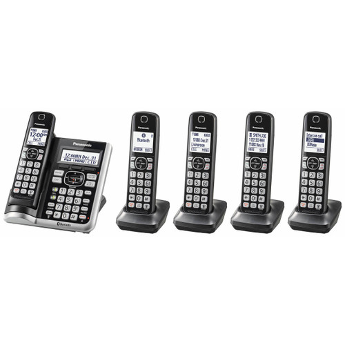 Panasonic Link2Cell DECT 6.0 5-Handset Cordless Phone with Caller ID and Answering System ( KX-TG785SK )
