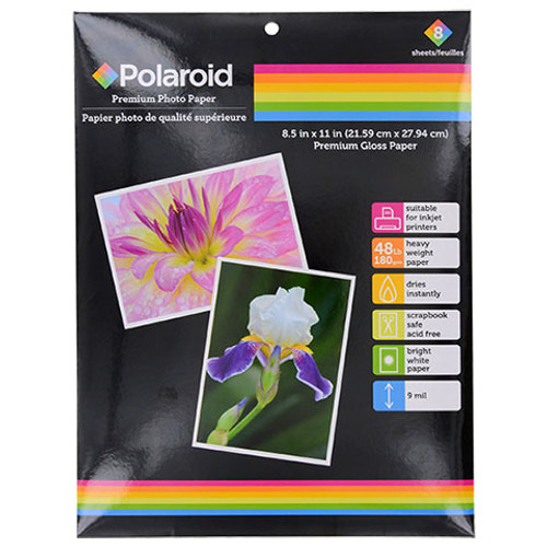 Polaroid High Gloss Photo Paper, 8-ct. Packs