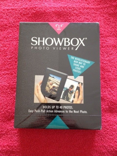 Showbox Photo Viewer 4'x6' Photo Made in Switzerland, Charcoal Color