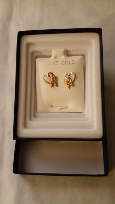 Ladies Gold Pierced Earrings (14kt)