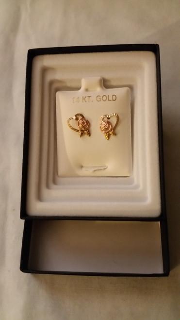 Ladies Gold Pierced Earrings (14kt)