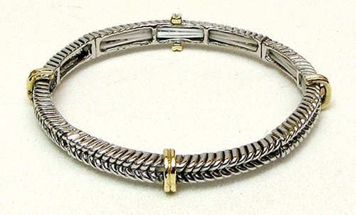 Stackable Stretch Bangle Braid Large (015-1914 iw)