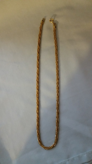 Vintage Jewelry Ladies Necklace antique gold finish (jlnagf 18)