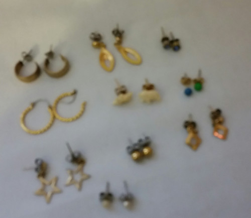 Vintage Jewelry Pierce Earrings Buy the lot of 10 (Lot 3 10)