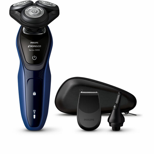 Philips Norelco Shaver with SmartClick Precision Trimmer and SmartClick Nose and Ear Trimmer (S5074/89 )