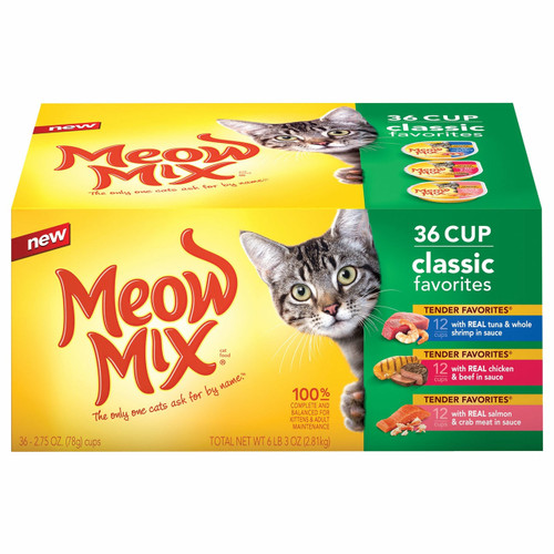 Meow Mix Classic Favorites Variety Pack, 36 pk./2.75 oz. (525400 )