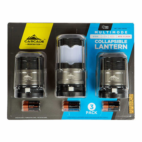 Cascade Mountain Tech Multimode LED Lantern 3-pack (1170792)
