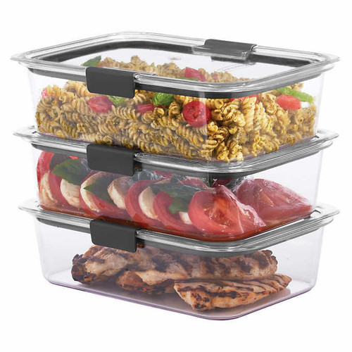 Rubbermaid Brilliance 3-piece Food Storage Containers with Lids (1050080)