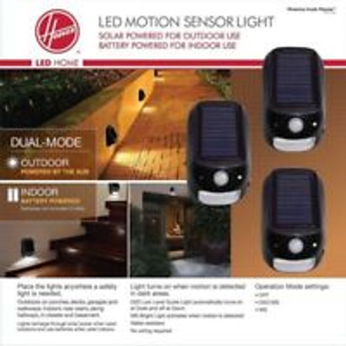 Hoover LED Dual Mode Security Light w/ Solar and Battery Power 3-Pack ( 631052003864)