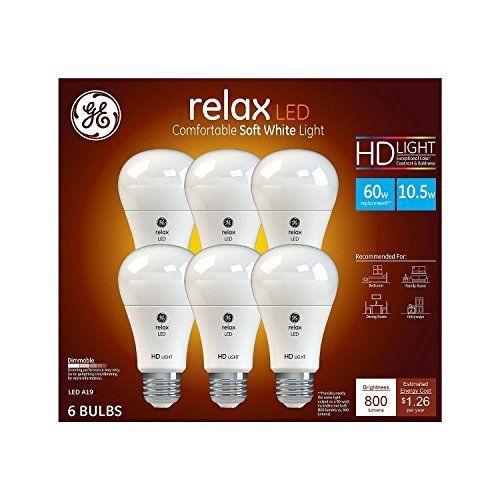 GE Relax High Definition LED Light Bulb 10.5-watt (980043273)