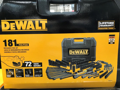 Dewalt 181 PC Black Chrome Mechanices Tool Set & Hard Case - Lifetime Warranty (DWMT81522)