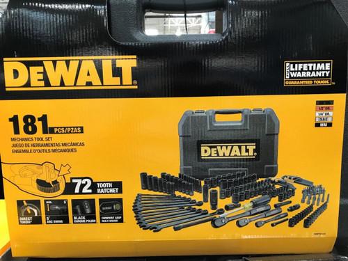 Dewalt 181 PC Black Chrome Mechanices Tool Set & Hard Case - Lifetime Warranty (DWMT81522)