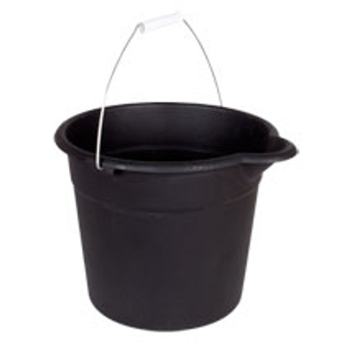 Black Plastic Buckets with Handles, 9-qt. Buy the Dozen Deal ( 205400)