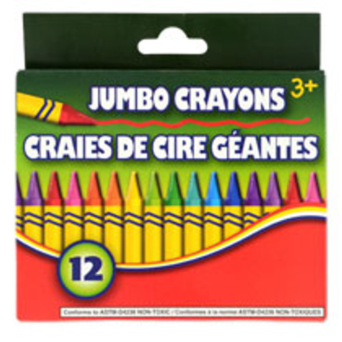 Jumbo Crayons, 12-ct. Packs Buy the Dozen Deal ( 144827)
