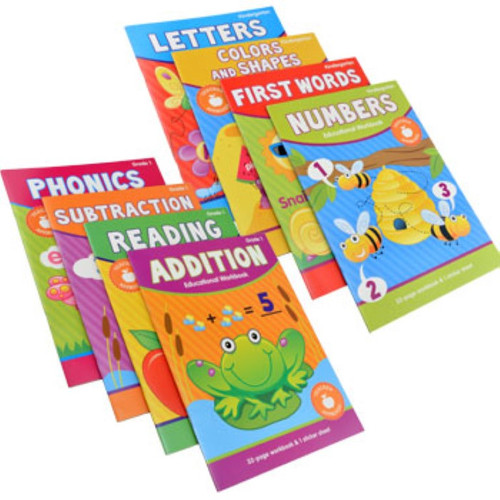 Kindergarten & First Grade Educational Workbooks, 32 Pages (982121)