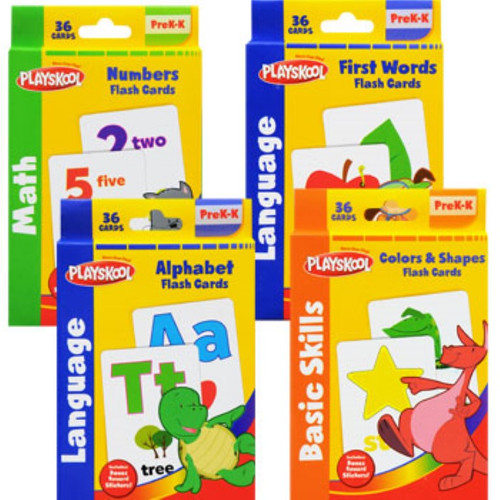 Playskool Flash Cards with Reward Stickers Dozen Deal (172707) (
