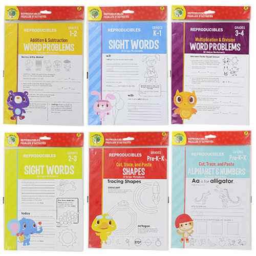 Reproducible Assorted Worksheets, 38-ct. Packs (953279)