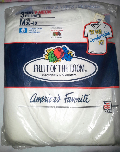 Fruit of the Loom Men's V Neck Tee Shirts 3 pack (076031252527)