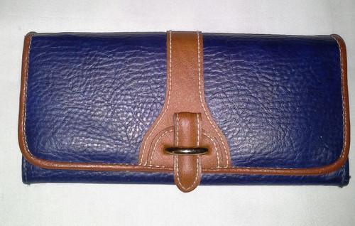 Gitano Blue with Tan trim Ladies Wallet (gbtlw)
