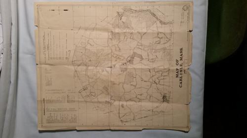 Carlisle Conservation Commission Map of Carlisle Ma (1518)