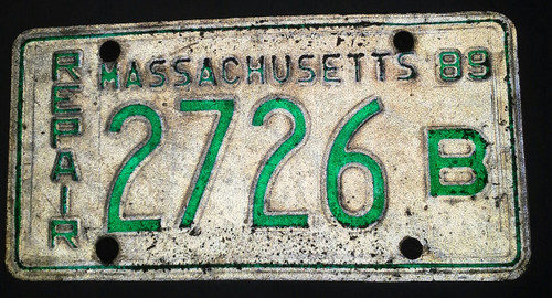 Collectible Vintage Ma Repair Plate ( 2726 B )