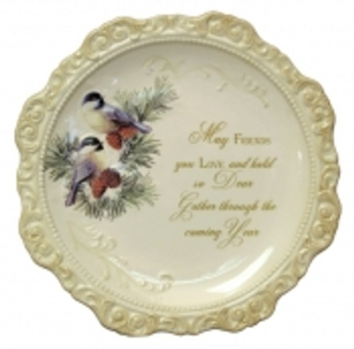 Elegant Ceramic Decorative Plate 'May Frie...