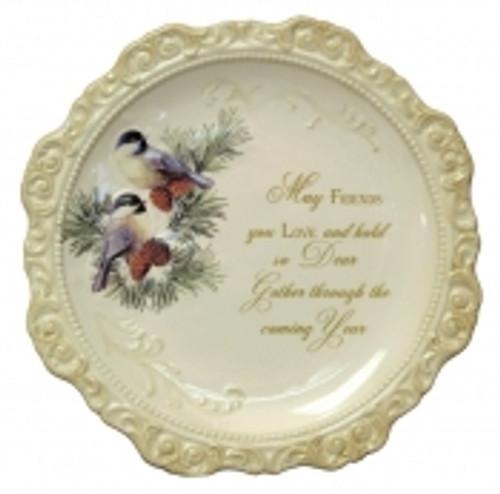 Elegant Ceramic Decorative Plate 'May Frie...