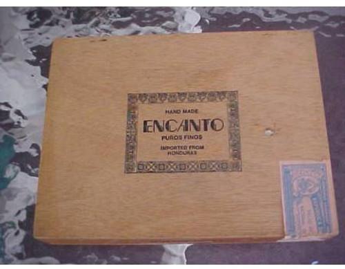 Encanto Puros Finos Wooden Cigar Box empty