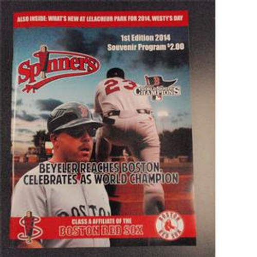 Spinners 1 st Edition 2014 Souvenir Program (2014)