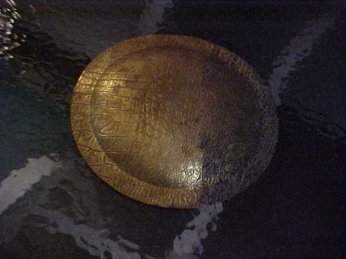 "Vintage 10"" Brass Bowl (38,39,35)"