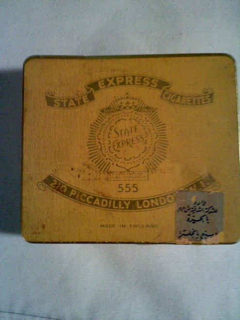 Vintage 555 State Express Cigarettes Tin Case (555)