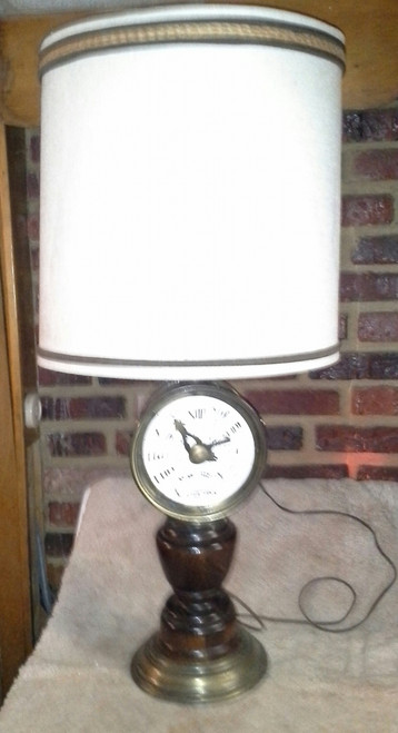 Vintage Baldwin-Brockett Ship Chandlery Milford Conn. Throttle table lamp (vbbtl)