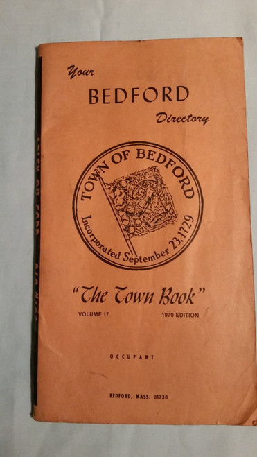 "Vintage Bedford Directory ""The Town Book"" 1979 Edition"
