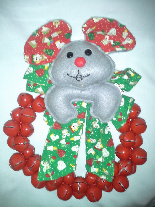 "Vintage Christmas 10"" Mouse Bell Wreath (vc 10)"